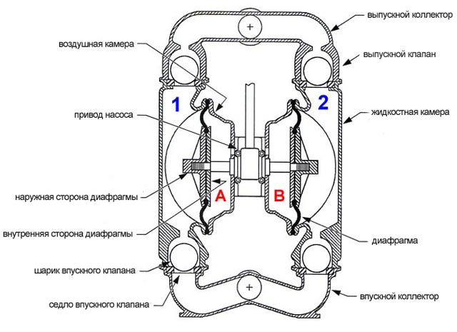 Мембранные насосы, диафрагменные насосы - конструкция и принцип работы