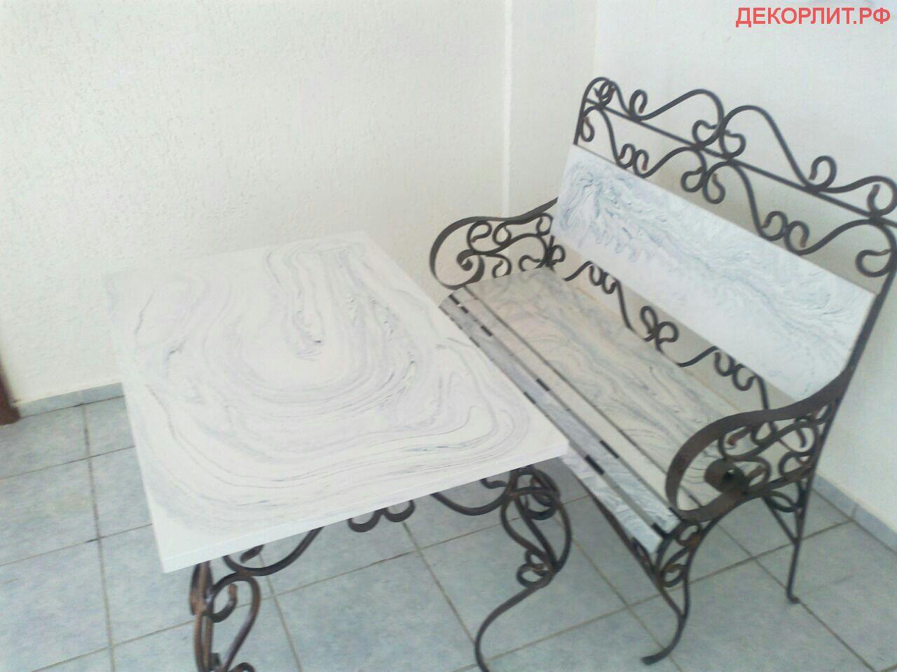 Бизнес идея по производству скамеек из композитных материалов под мрамор, оникс, гранит, RAL