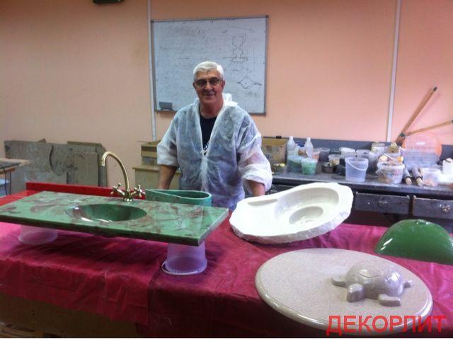 Литьевой мрамор, камень искусственный, технология и обучение